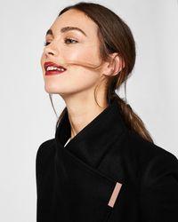 Ted Baker - Cashmere-blend Wrap Front Coat - Lyst
