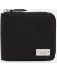 Ted Baker - Zip Around Leather Coin Wallet - Lyst