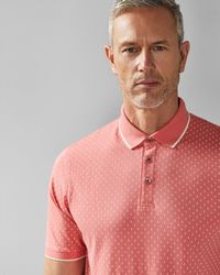 6ab50306c43a Ted Baker Geo Print Pocket Cotton T-shirt in Pink for Men - Lyst