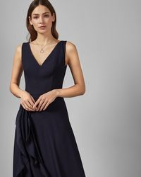 88ac509a3 Lyst - Ted Baker Shelani Embellished Maxi Dress in Black