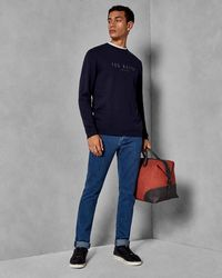 Ted Baker - Tapered Light Wash Jeans - Lyst