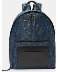 Ted Baker - Printed Backpack - Lyst