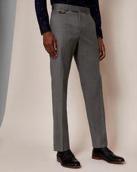 Ted Baker - Sterling Regular Herringbone Trousers - Lyst
