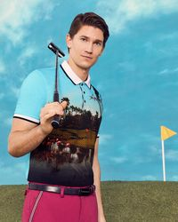Ted Baker - Palm Springs Print Polo Shirt - Lyst