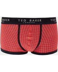 Ted Baker - Printed Cotton Boxer Shorts - Lyst