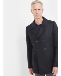 Ted Baker - Wool Peacoat - Lyst