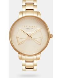Ted Baker - Bow Detail Metallic Watch - Lyst