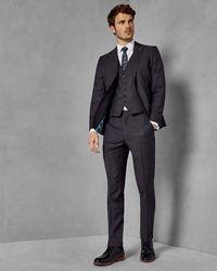 Ted Baker - Geo Skinny Fit Wool Trousers - Lyst