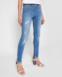 abeed18f212d78 Ted Baker - Abrasion Detail Skinny Jeans - Lyst