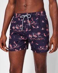 Ted Baker - Island Print Swim Shorts - Lyst