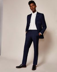 Ted Baker - Regular Fit Wool Suit Trousers - Lyst