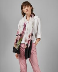 Ted Baker Nevaehh Floral - Print Long Silk Scarf