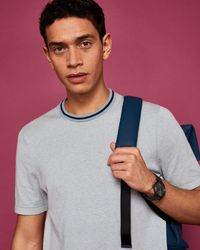Ted Baker - Striped Knitted T-shirt - Lyst
