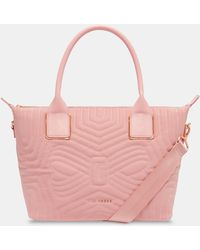 Ted Baker - Small Reflective Quilted Tote Bag - Lyst