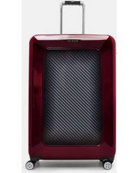 Ted Baker - 'small Burgundy' Four Wheel Suitcase - Burgundy - Lyst