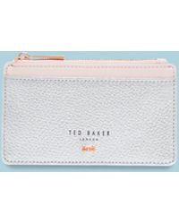Ted Baker - Zipped Leather Card Holder - Lyst