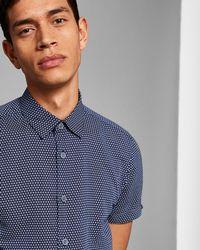 Ted Baker - Printed Linen Shirt - Lyst