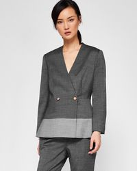 c425835bb Ted Baker Ottoman Suit Jacket in Black - Lyst