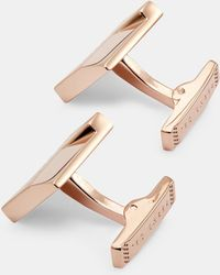 Ted Baker - Brushed And Faceted Cufflinks - Lyst