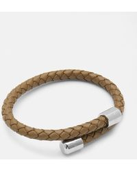 Ted Baker - Leather Woven Bangle - Lyst
