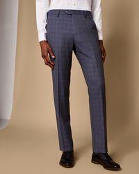 Ted Baker - Debonair Slim Checked Wool Suit Trousers - Lyst