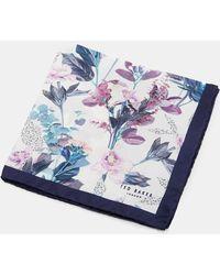 Ted Baker - Floral Print Silk Pocket Square - Lyst
