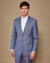 Ted Baker - Debonair Slim Plain Wool Suit Jacket - Lyst