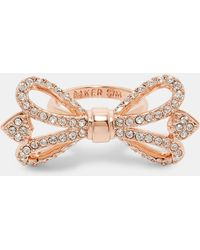 Ted Baker | Crystal Bow Ring | Lyst