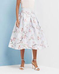Ted Baker - Oriental Blossom Full Skirt - Lyst