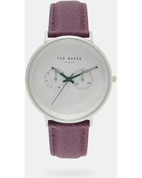 Ted Baker - Textured Strap Watch - Lyst