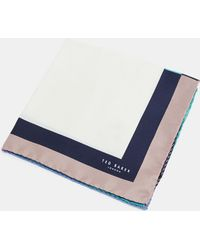 Ted Baker - Contrast Border Silk Pocket Square - Lyst
