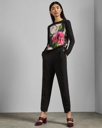 080819880 Ted Baker - Magnificent Front Cotton Jumper - Lyst