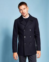 Ted Baker - Double Breasted Peacoat - Lyst