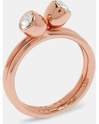 Ted Baker - Crystal Stacking Ring - Lyst