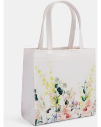 430bc0803942a8 Ted Baker Ferrian Hanging Garden Icon Bag And Flip Flops White in ...