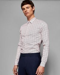 Ted Baker - Phormal Geo Print Cotton Shirt - Lyst