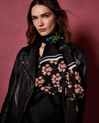 Ted Baker - Florence Silk Cape Scarf - Lyst