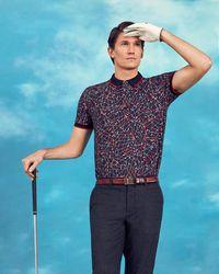 Ted Baker - Slice Golf Club Print Polo Shirt - Lyst