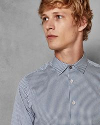 Ted Baker - Cotton Geo Print Shirt - Lyst