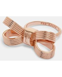 Ted Baker - Mini Bow Ring - Lyst