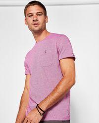Ted Baker - Jacquard Cotton T-shirt - Lyst