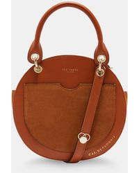 Ted Baker - Leather Circular Bag - Lyst