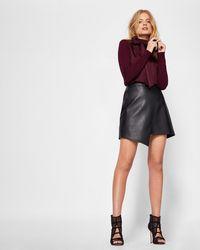 Ted Baker - Asymmetric Exposed Zip Skirt - Lyst