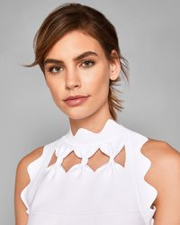 Ted Baker - Bow Neckline Knitted Top - Lyst