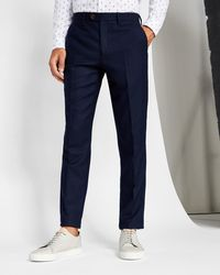Ted Baker - Textured Wool Trousers - Lyst