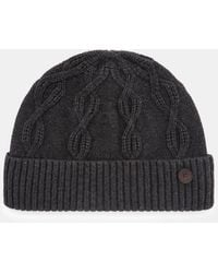 Ted Baker - Cable Knit Wool Hat - Lyst