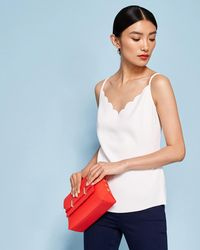 Ted Baker | Scallop Neckline Cami Top | Lyst