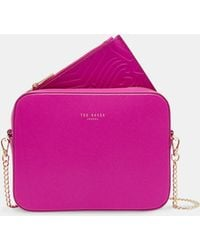 Ted Baker - Embossed Leather Camera Bag - Lyst