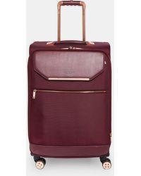 Ted Baker - Metallic Trim Medium Suitcase - Lyst