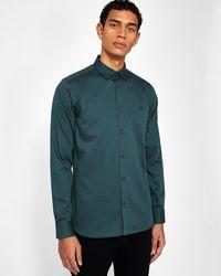 Ted Baker - Polka Dot Print Cotton Shirt - Lyst